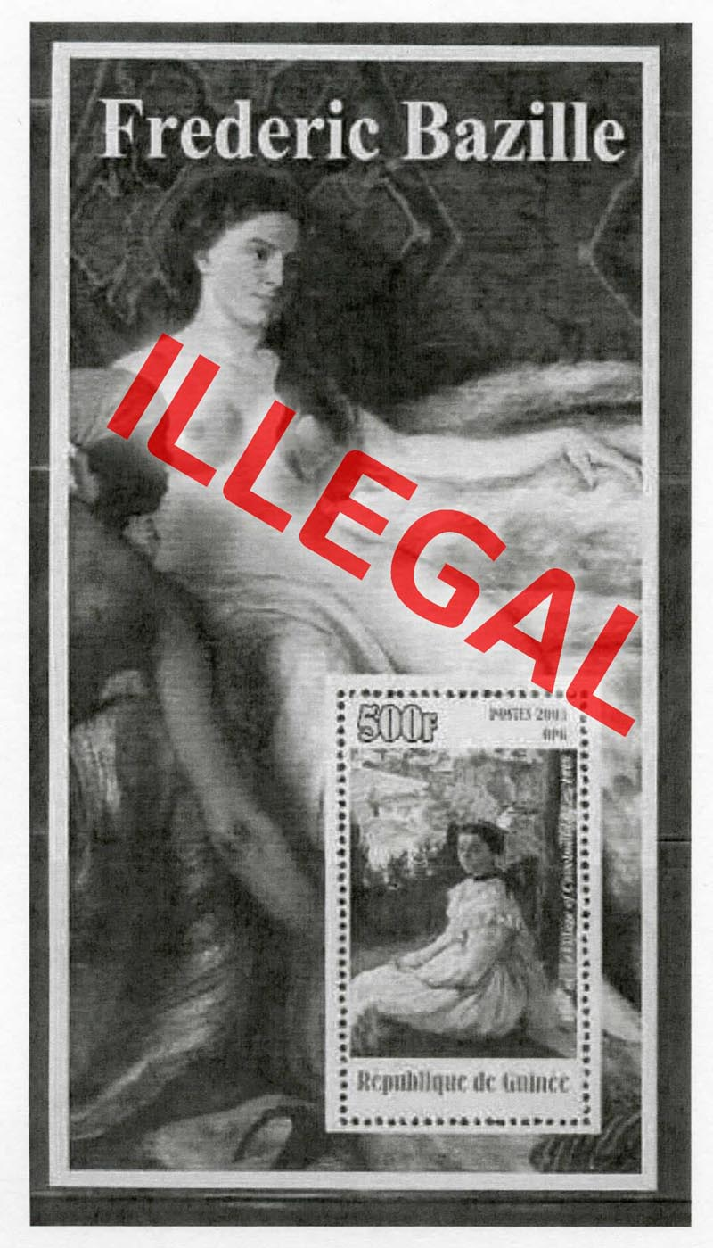 Illegal stamps of guinea. Frederick Bazille