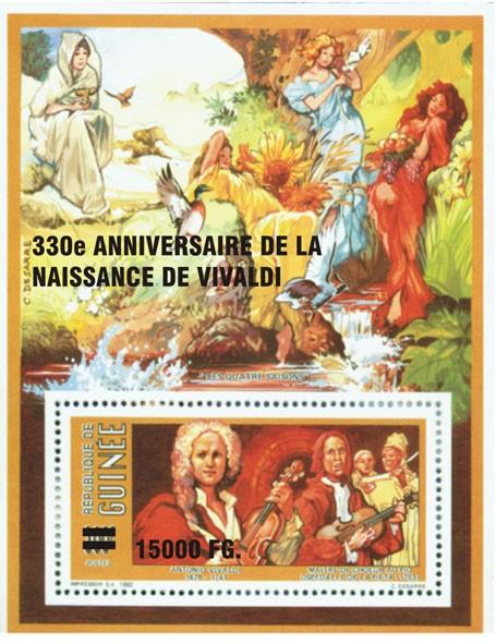 330e Anniversaire de la naissance de Vivaldi - Issue of Guinée postage stamps