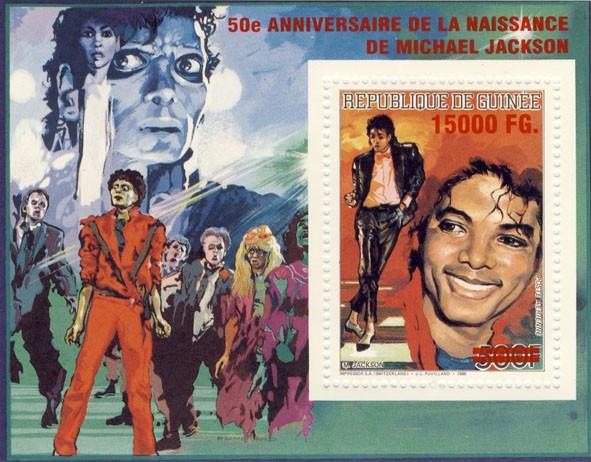 50e Anniversaire de la naissance de Michael Jackson - Issue of Guinée postage stamps