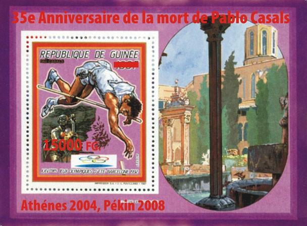 35e Anniversaire de la mort de Pablo Casals, Athenes 2004, Pekin 200835e Anniversaire de la mort de Pablo Casals, Athenes 2004, Pekin 2008 - Issue of Guinée postage stamps