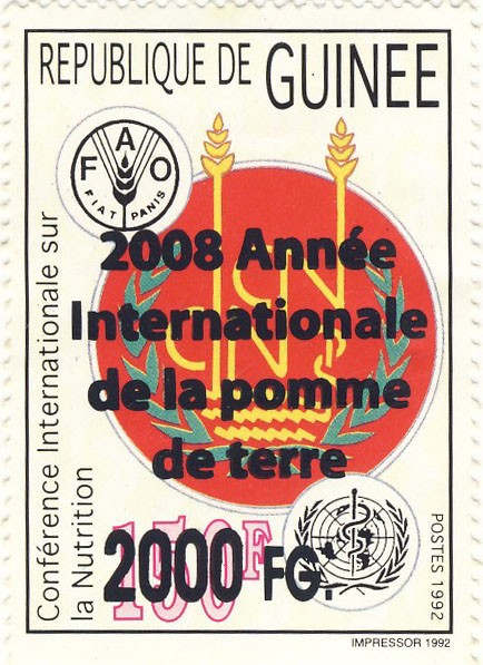 2008 Annee Internationale de la pomme de terre - Issue of Guinée postage stamps