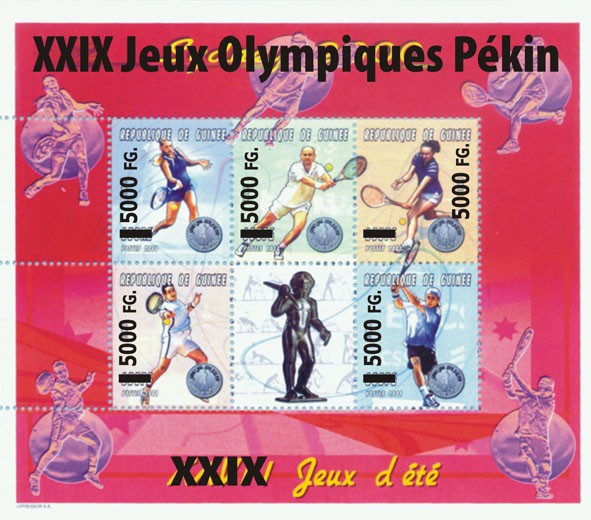 XXIX Jeux Olympiques Pekin - Issue of Guinée postage stamps