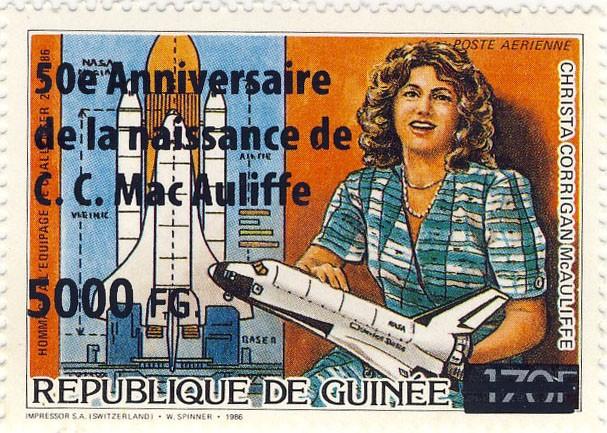 50e Anniversaire de la naissance de C.C. Mac Auliffe - Issue of Guinée postage stamps