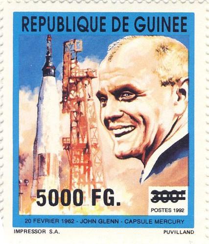 10e Anniversaire du 2e voyage sur orbite (29.10.1998) - Issue of Guinée postage stamps