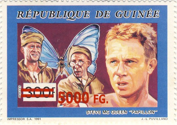 "35e Anniversaire du film ""Papillon"" - Issue of Guinée postage stamps"