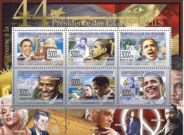 JAV President Barack Obama  - Issue of Guinée postage stamps