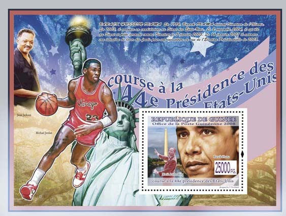 USA President Barack Obama s-s - Issue of Guinée postage stamps