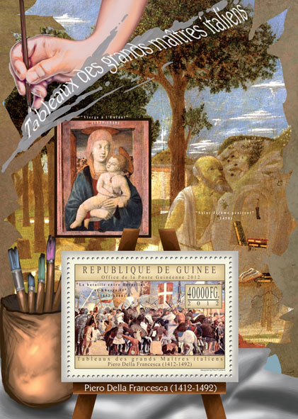 Great Italian Masters Paintings VIII - Issue of Guinée postage stamps