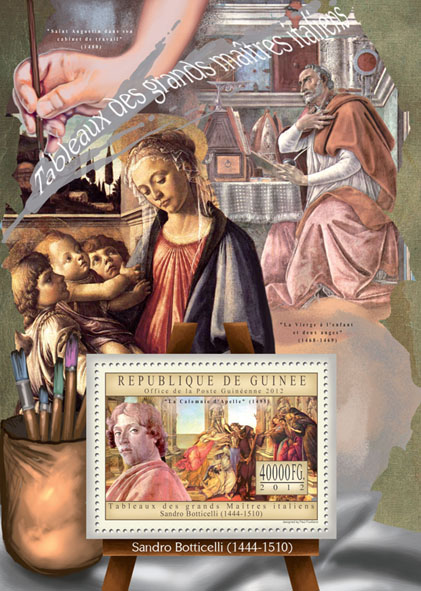 Great Italian Masters Paintings IX - Issue of Guinée postage stamps