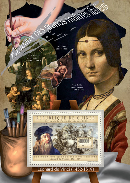 Great Italian Masters Paintings X - Issue of Guinée postage stamps