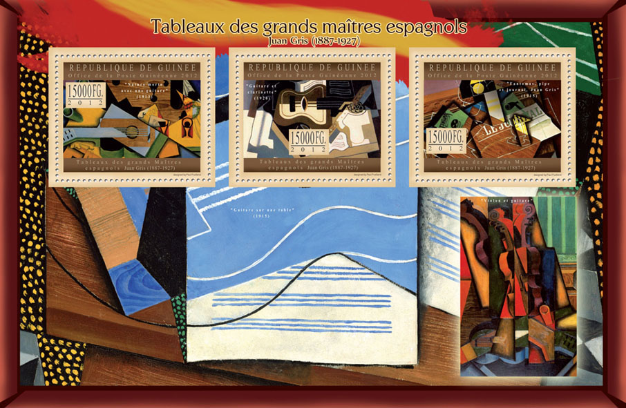 Great Spanish Masters Paintings X - Issue of Guinée postage stamps