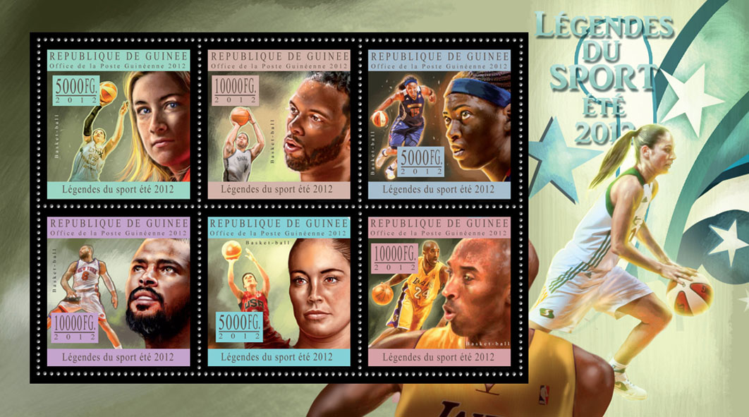 Sports legends summer 2012 VII - Issue of Guinée postage stamps