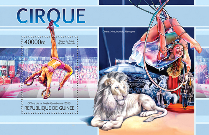 Circus - Issue of Guinée postage stamps