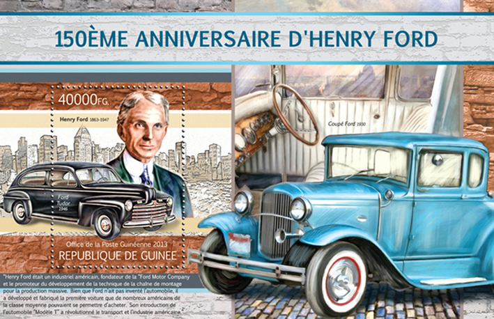 Henry Ford - Issue of Guinée postage stamps