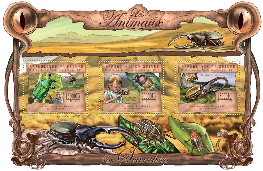 Beetles - Issue of Guinée postage stamps