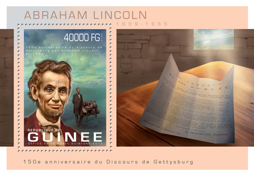 Abraham Lincoln - Issue of Guinée postage stamps