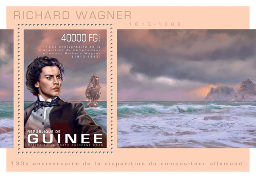 Richard Wagner - Issue of Guinée postage stamps