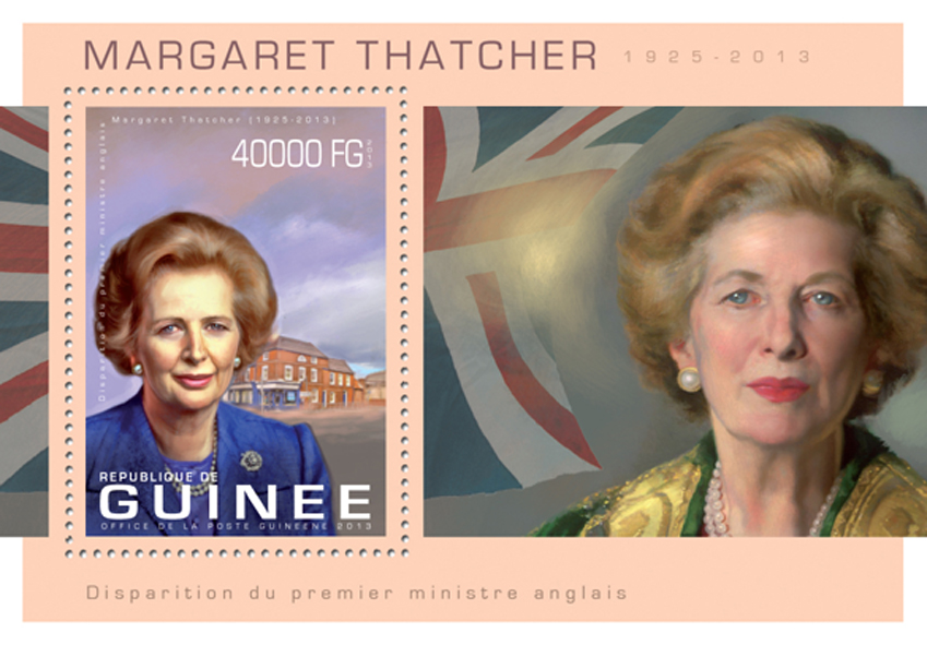 Margaret Thatcher - Issue of Guinée postage stamps