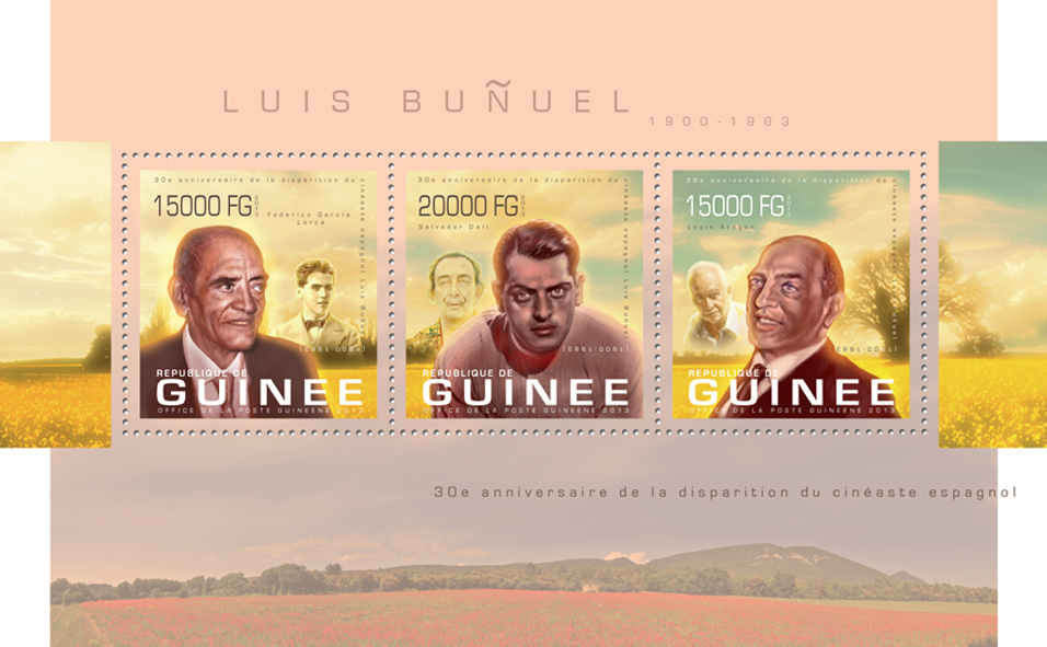Luis Bunuel - Issue of Guinée postage stamps