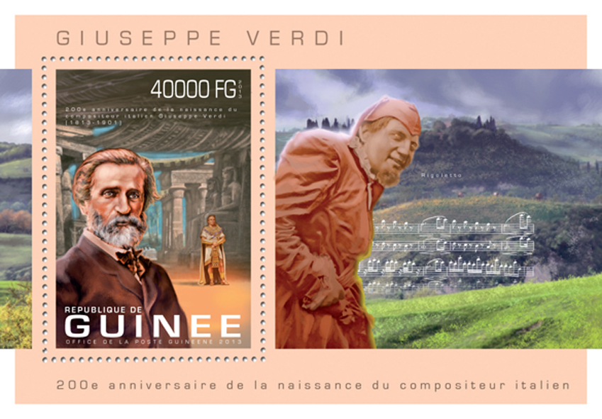 Giuseppe Verdi - Issue of Guinée postage stamps