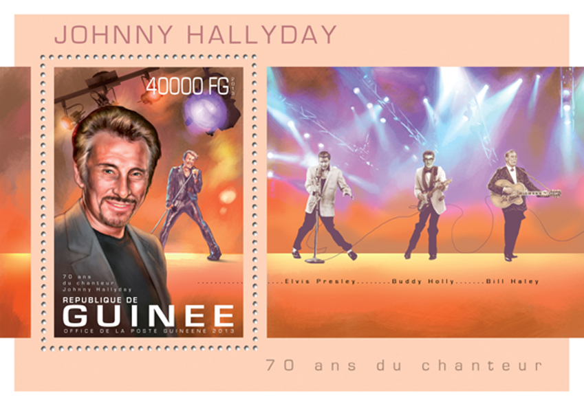 Johnny Hallyday - Issue of Guinée postage stamps