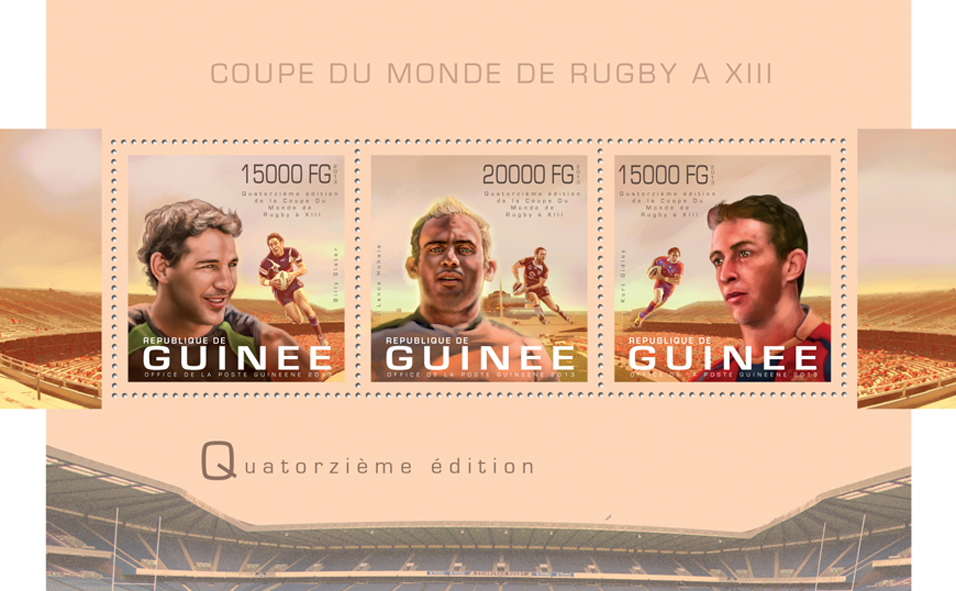 Rugby - Issue of Guinée postage stamps