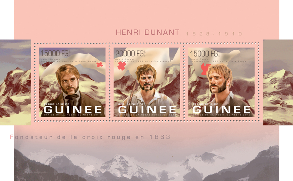 Henri Dunant - Issue of Guinée postage stamps