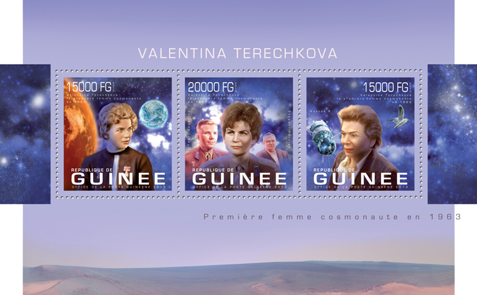 Valentina Tereshkova - Issue of Guinée postage stamps