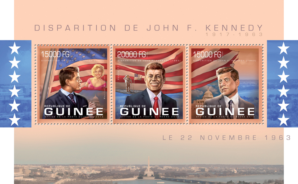 John F. Kennedy - Issue of Guinée postage stamps