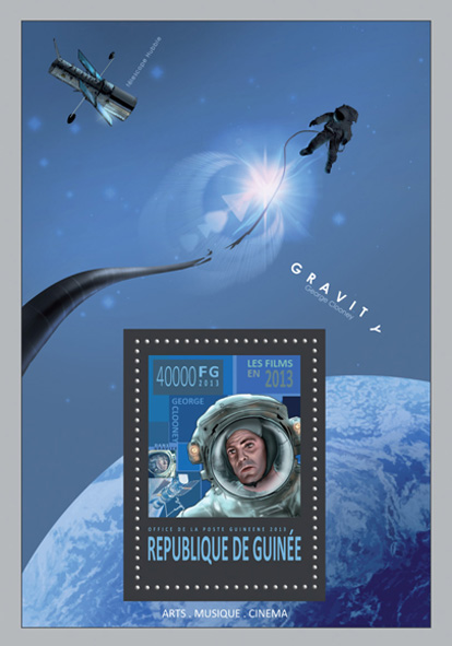 Gravity - movie - Issue of Guinée postage stamps