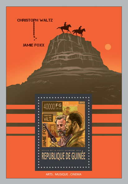 Django Unchained - movie - Issue of Guinée postage stamps