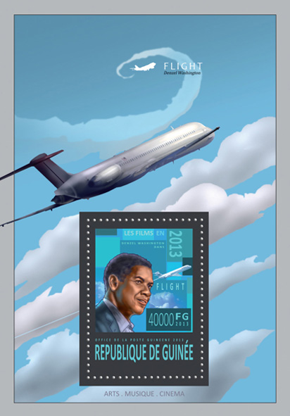 Flight - movie - Issue of Guinée postage stamps