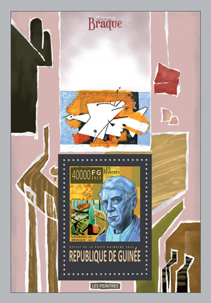 Georges Braque  - Issue of Guinée postage stamps