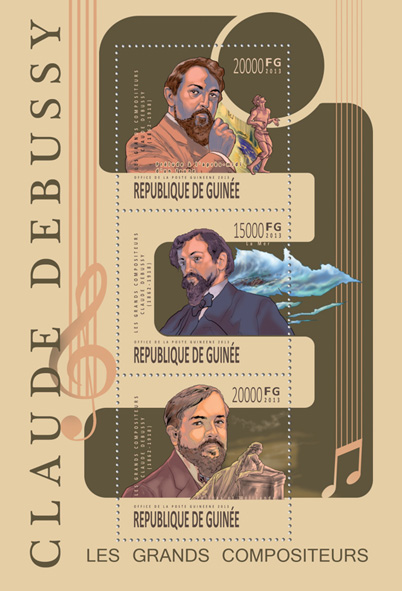Claude Debussy - Issue of Guinée postage stamps