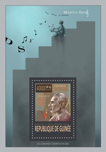Maurice Ravel - Issue of Guinée postage stamps