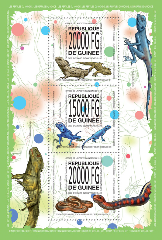 Reptiles - Issue of Guinée postage stamps