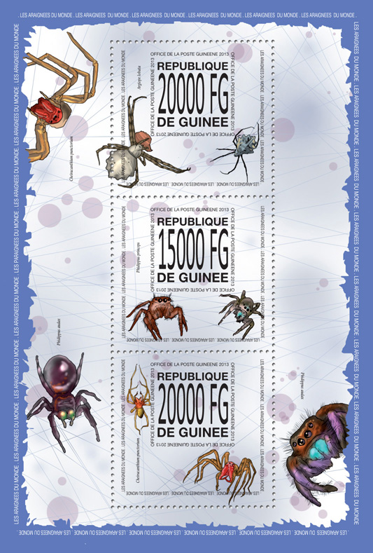 Sipders - Issue of Guinée postage stamps