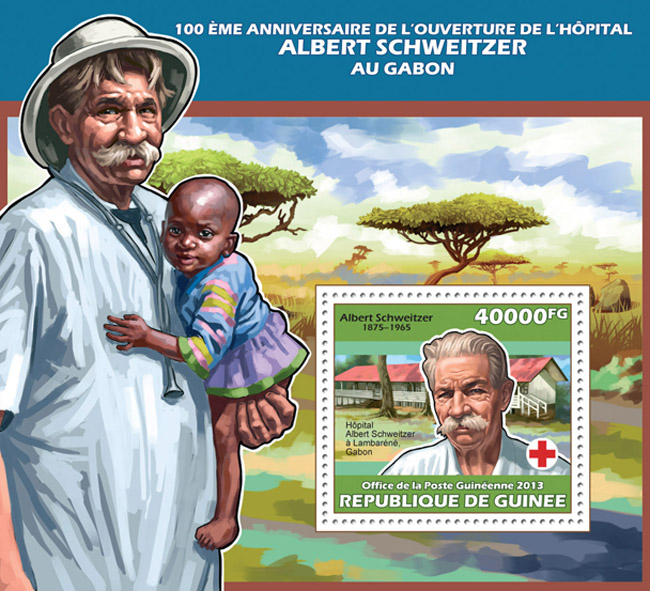Albert Schweitzer - Issue of Guinée postage stamps
