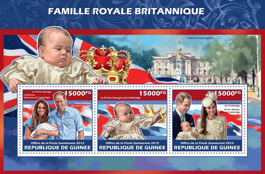 Royal British Family - Issue of Guinée postage stamps