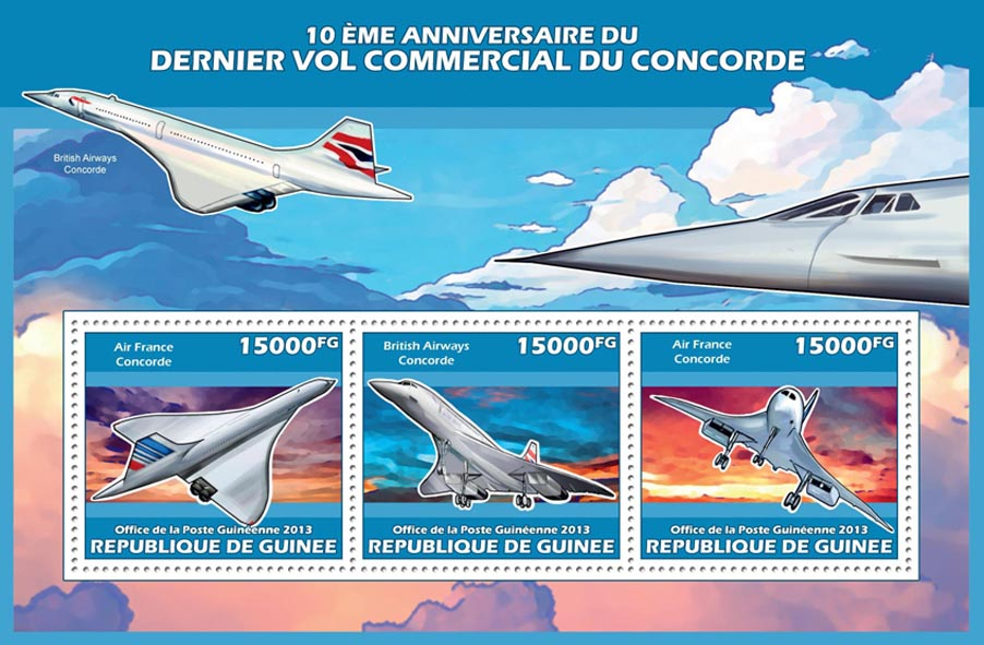 Concorde - Issue of Guinée postage stamps