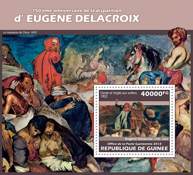 Eugene Delacroix - Issue of Guinée postage stamps