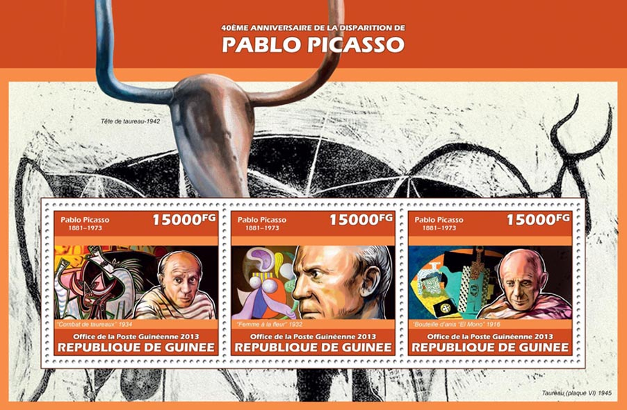 Pablo Picasso - Issue of Guinée postage stamps