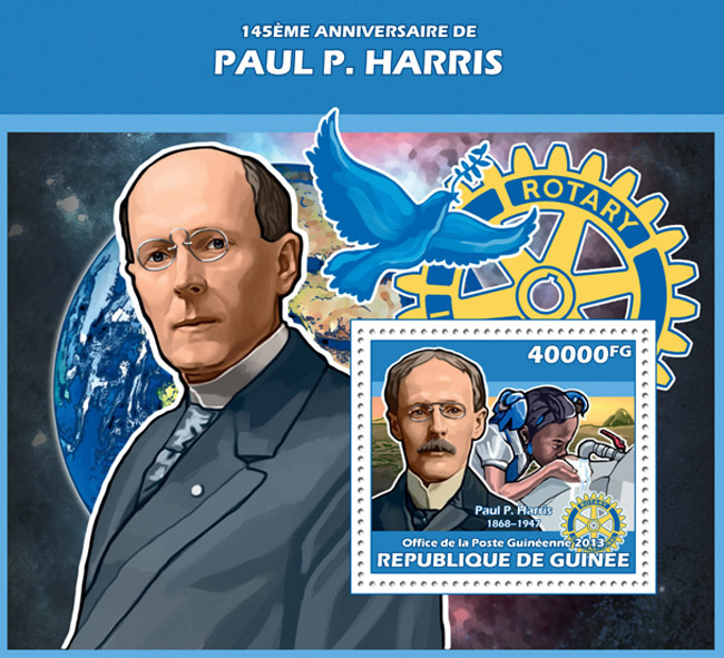 Paul Harris - Issue of Guinée postage stamps
