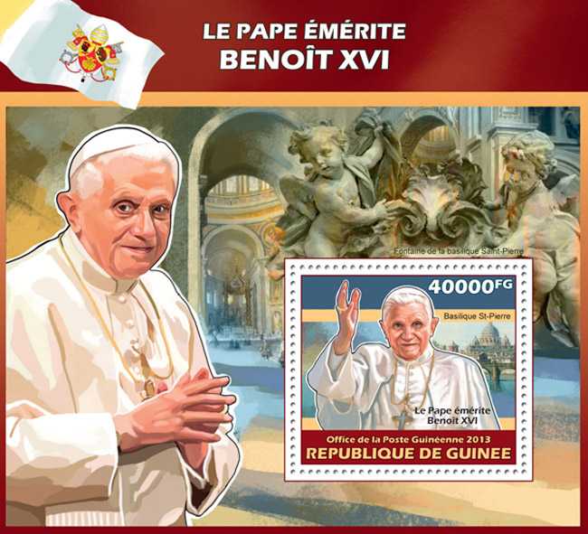 Benedict XVI - Issue of Guinée postage stamps