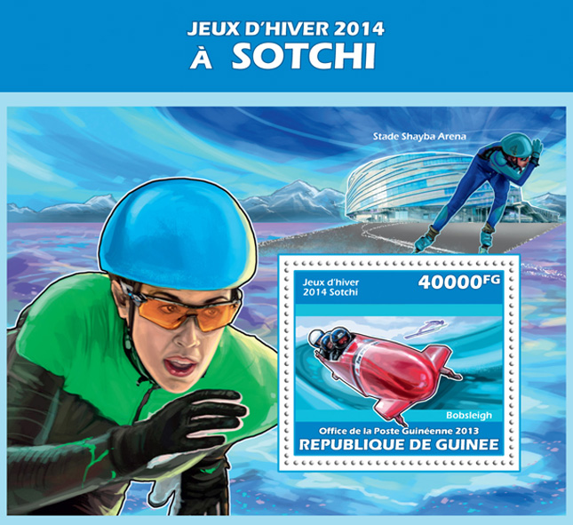 Sochi 2014 - Issue of Guinée postage stamps