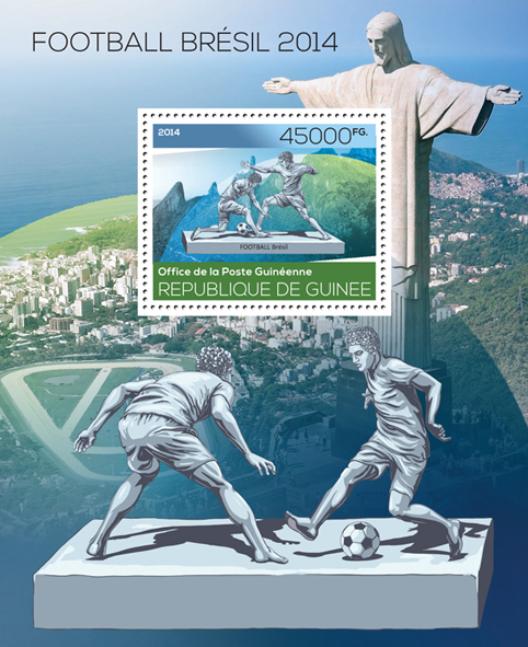 Brazil 2014 - Issue of Guinée postage stamps