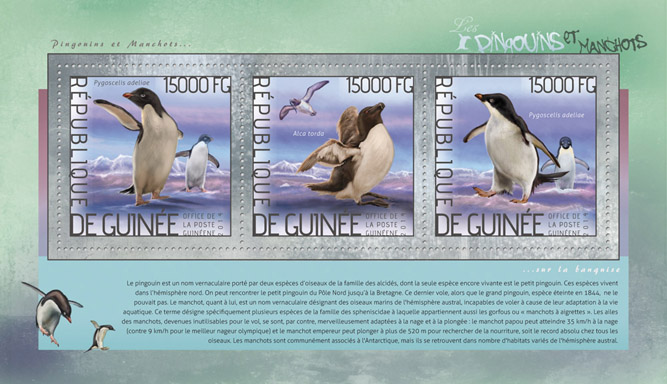 Penguins - Issue of Guinée postage stamps