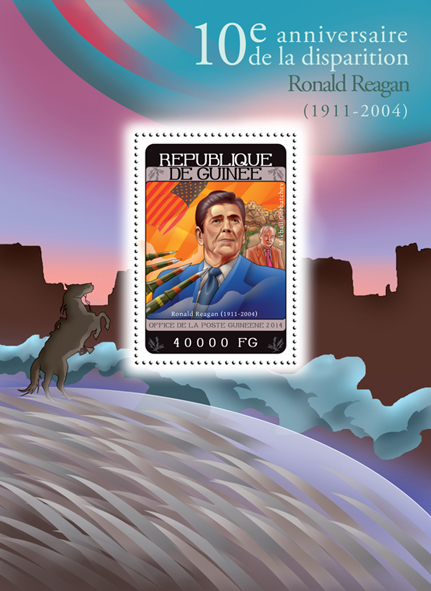 Ronald Reagan - Issue of Guinée postage stamps