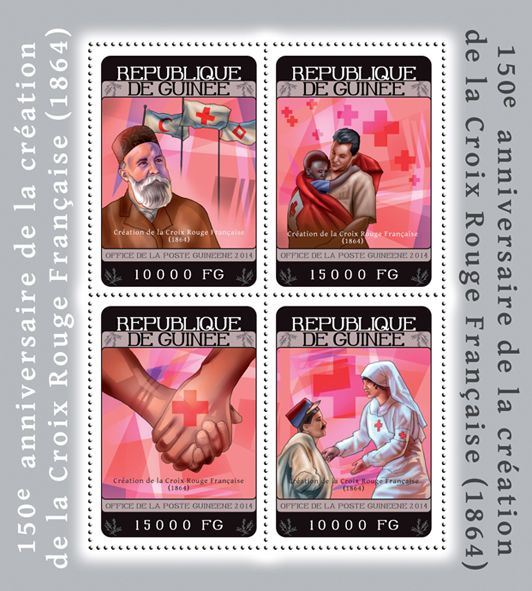 Red Cross - Issue of Guinée postage stamps