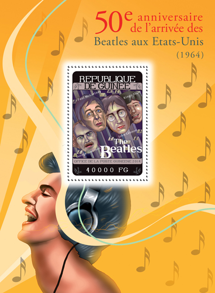 the Beatles - Issue of Guinée postage stamps